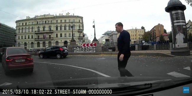 audi-a4-russian-throw-into-river